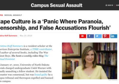 Time Magazine Rape Crisis Article