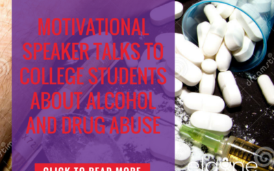 Motivational Speaker Talks to College Students About Alcohol and Drug Abuse