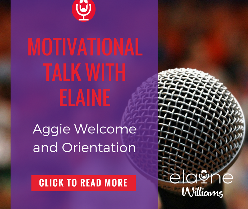 Comedic Motivational Speaker Part of Aggie Welcome and Orientation